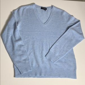 Lord & Taylor Cashmere V Neck Sweater Long Sleeve